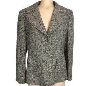 ESCADA Tweed Gray Blazer Silk/New Wool/Cashmere